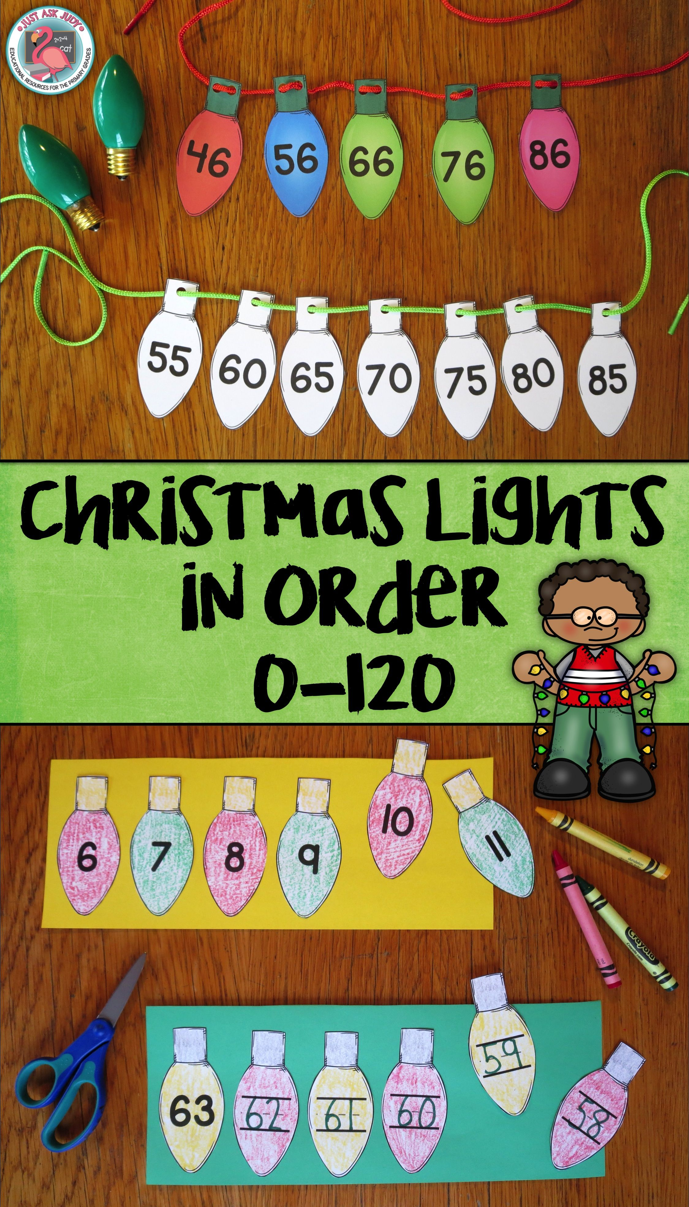 Ordering Numbers 0 120 Christmas Lights