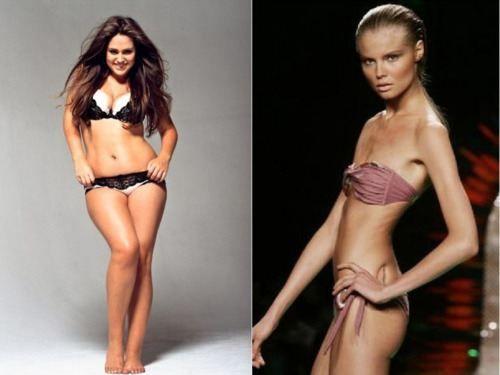 Curvy women vs skinny women