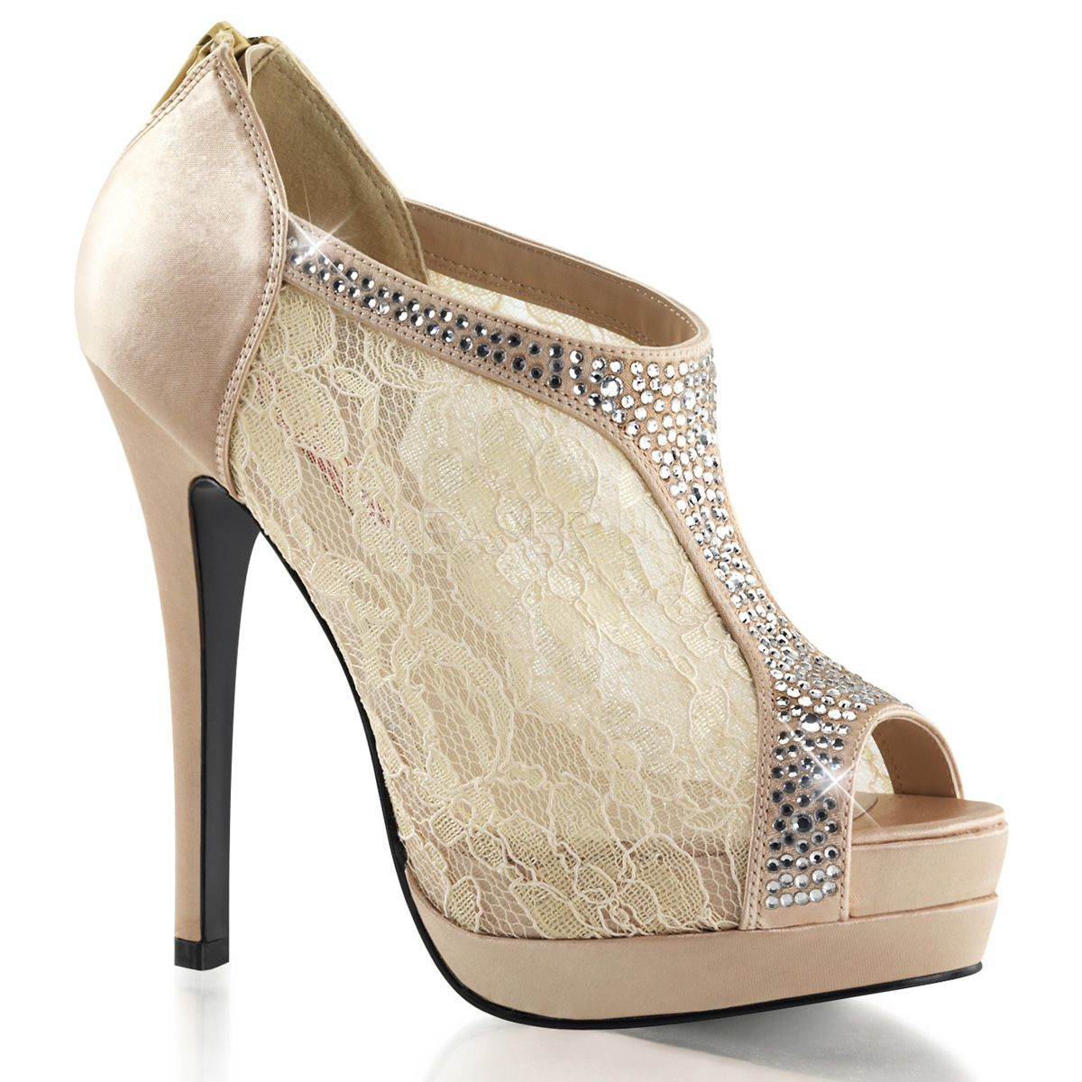 Lace embellished bridal bootie PLEASER Schuhe  BELLA 26    26 Schuhe ... 55a08c
