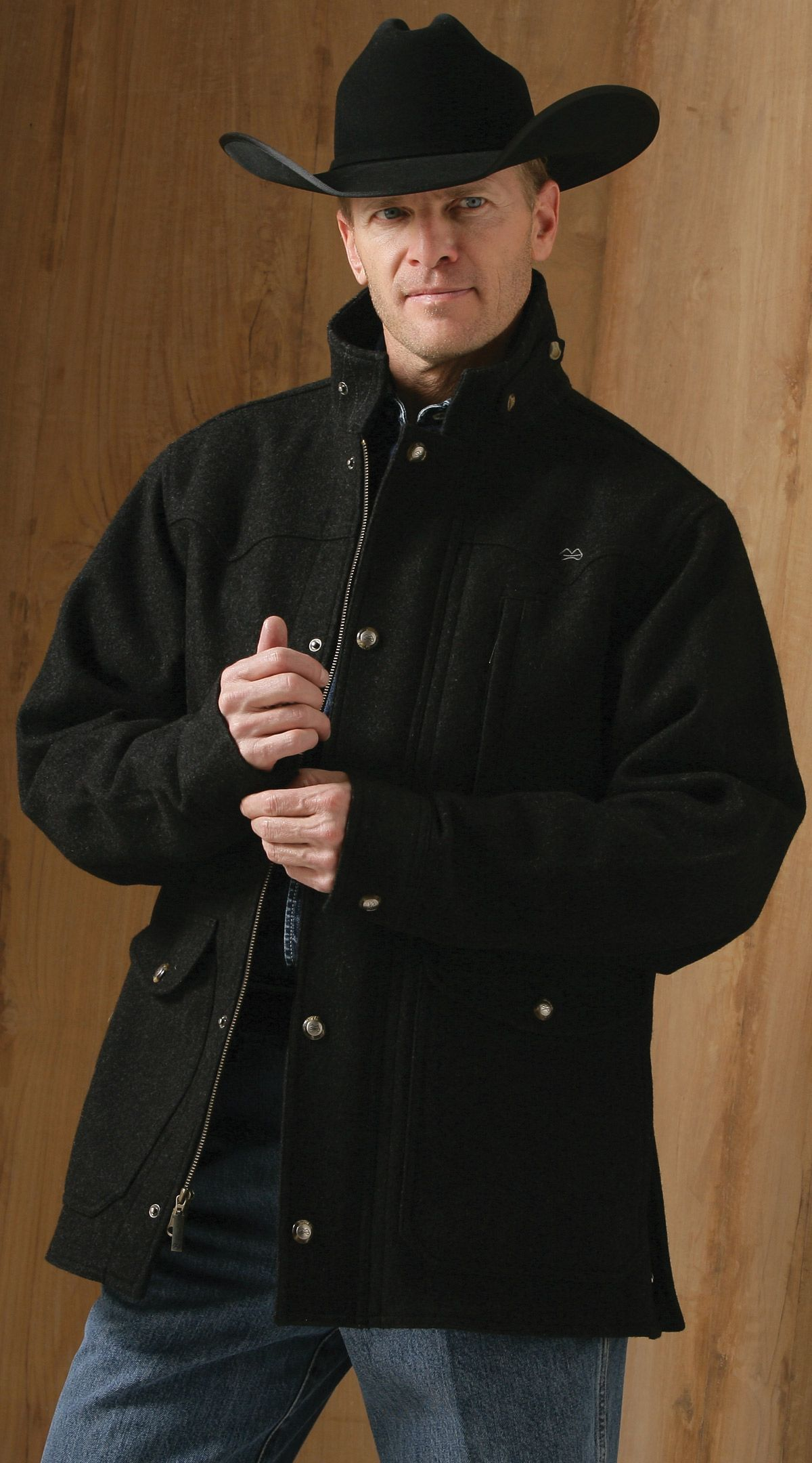 Men S Wool Jacket For The Deck Cowboy Outfit For Men Cowboy Outfits Wool Jacket [ 2160 x 1200 Pixel ]