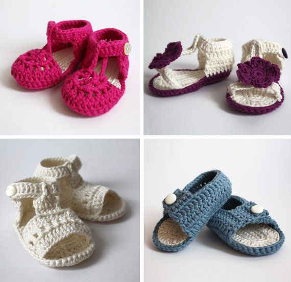 sandalias para bebé de ganchillo | crochet | Pinterest | Sandalias ...