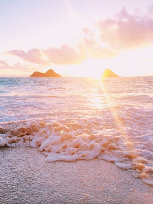 Pink Sunrise At Beach