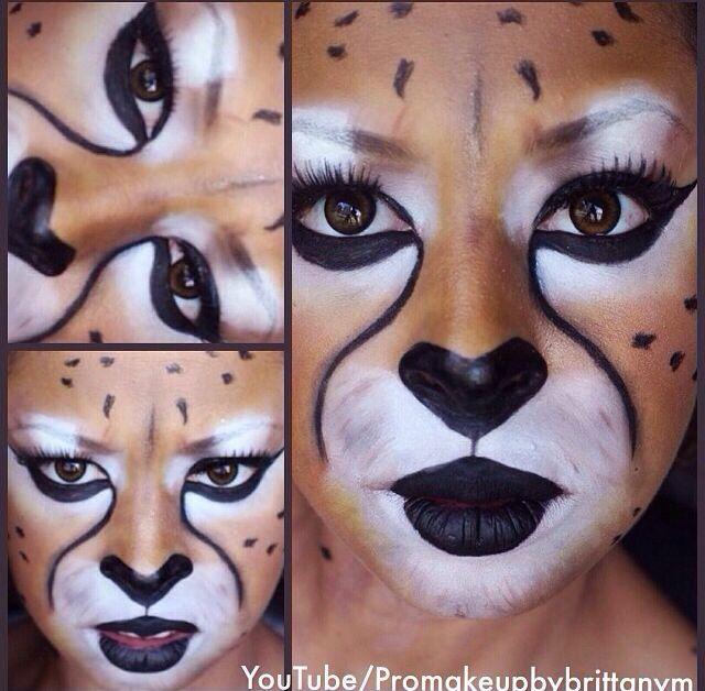 Pin De Yeseña Lyles En Make Up Maquillaje De Animales Maquillaje Leona Maquillaje Halloween Gato