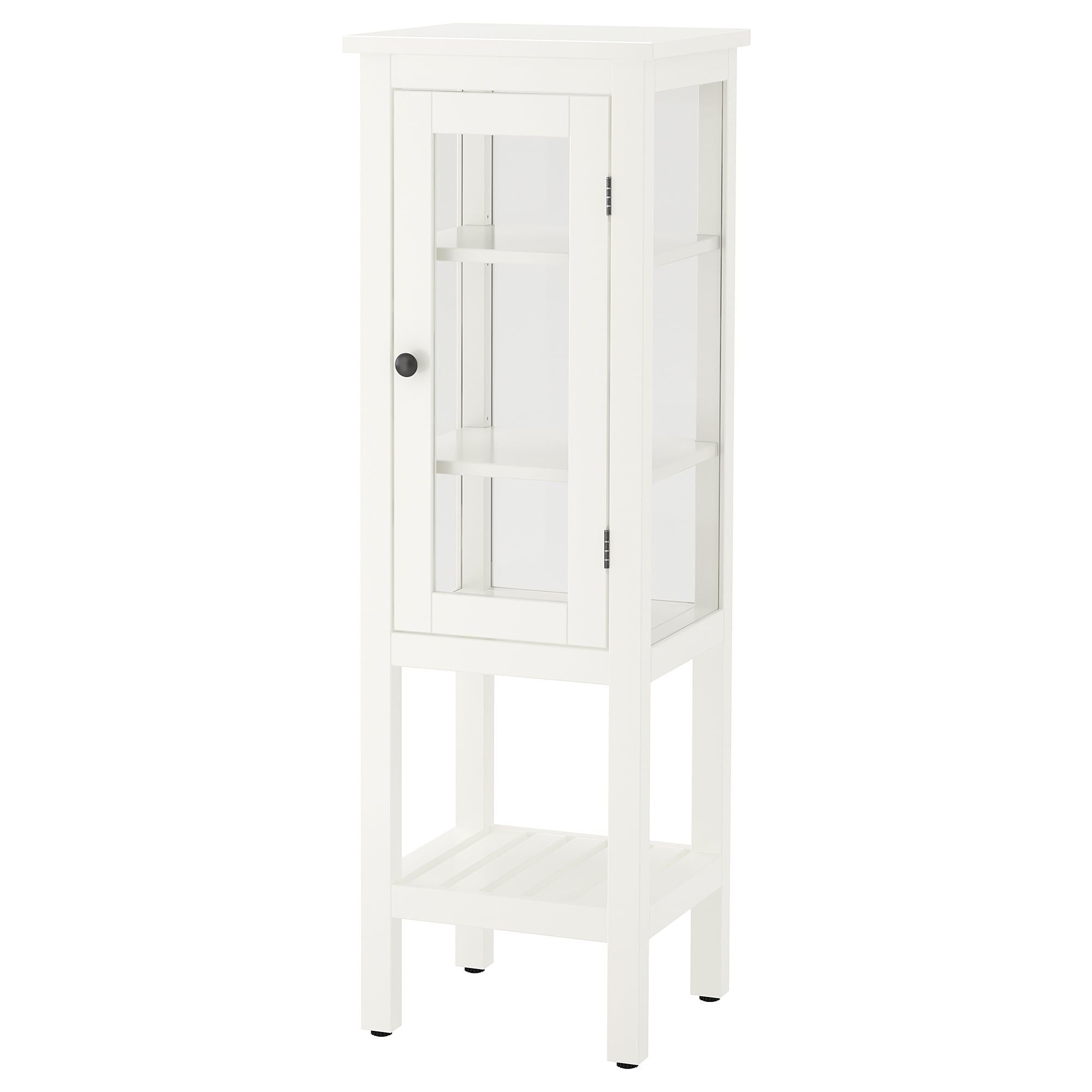 HEMNES High cabinet with glass door, white, 16 12x15x51 58