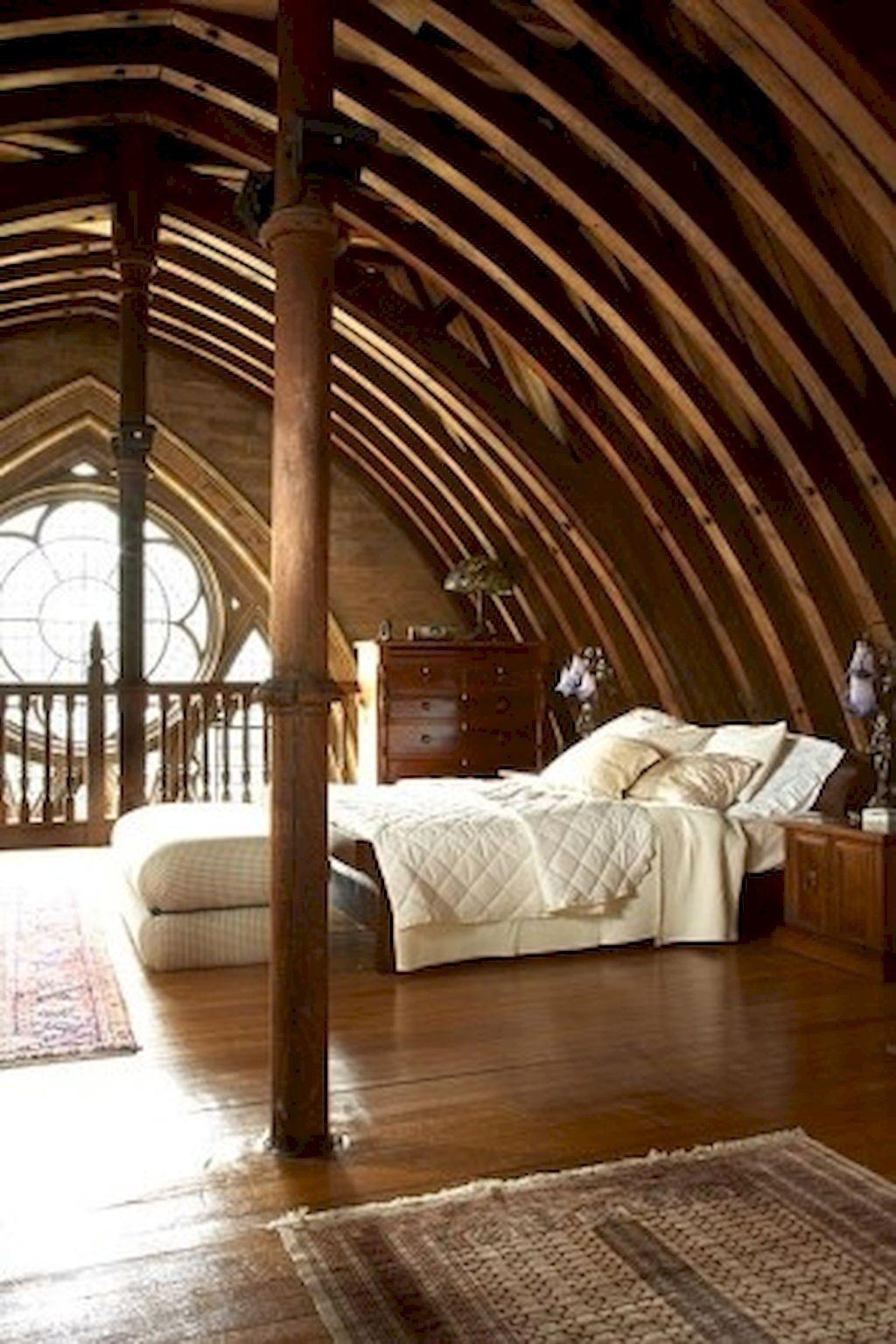 33 Pleasant Attic Loft Bedroom Design Decor Ideas Vaulted Ceiling Bedroom House Design Home Bedroom