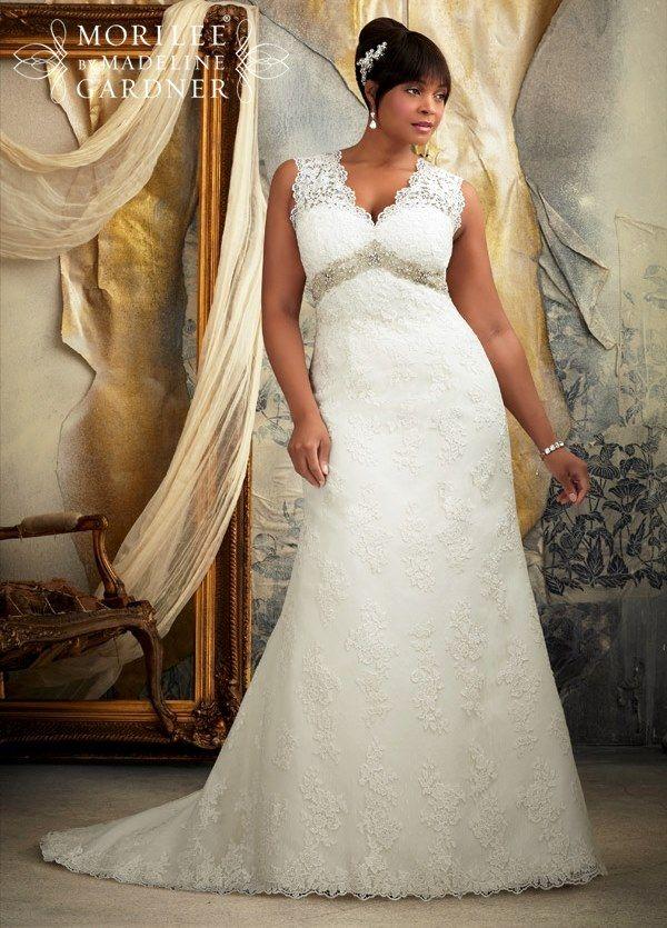 Plus Size Form Fitting Wedding Dresses