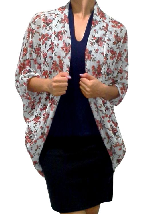 PLUS SIZE Flyaway Cardigan. Baby Blue Teal with Floral. - 5dollarfashions.com