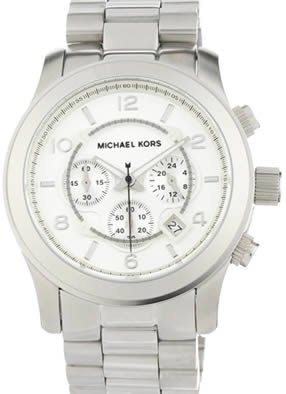 c0ad588269cc Michael Kors Men s MK8086 Runway Silver-Tone Watch (691464227159) Iconic Michael  Kors metals give you the bold and classic Case diameter  46 mm Oversized ...