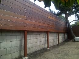 How To Hid That Ugly Cinder Block Wall And Make The Fence Higher For More  Privacy