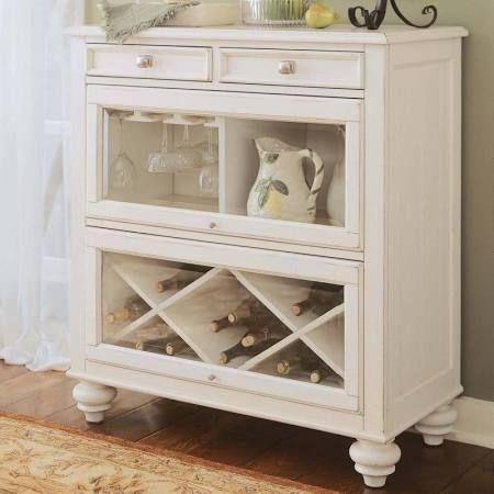 American Drew 920-589 - Camden Light Bookcase/Bar (White)