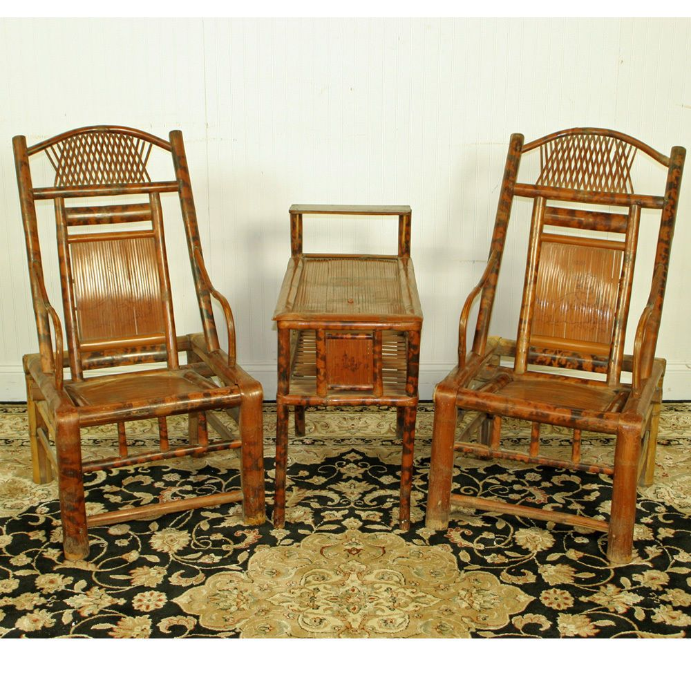 Bamboo Turned Chair: Antique Chinese Bamboo Furniture