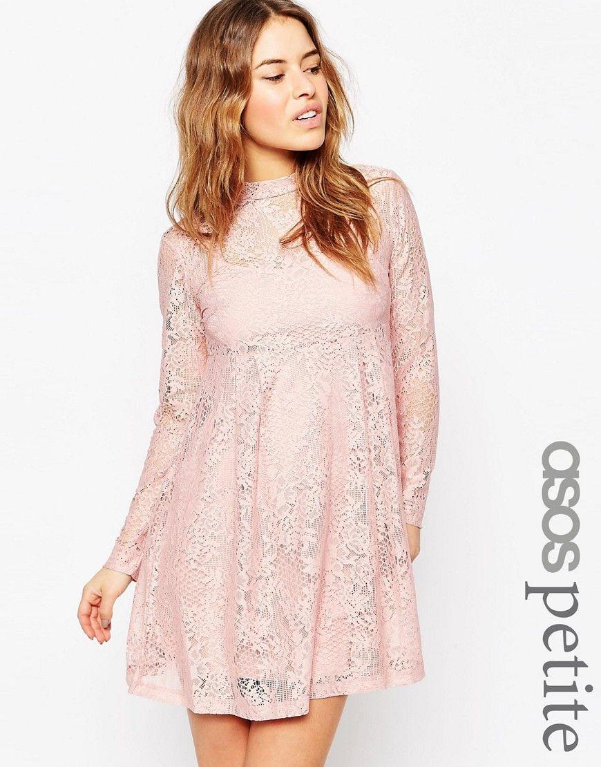 asos petite lace babydoll dress at asos | vestido de