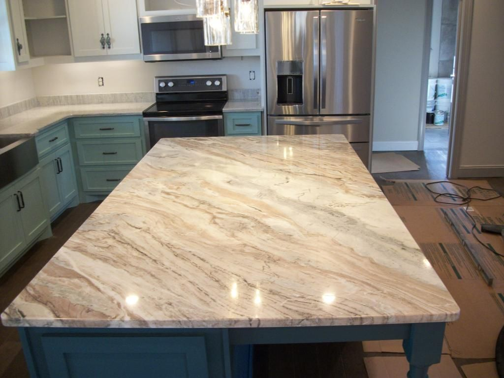 dark cabinets with fantasy brown granite - Google Search ... on Black Granite Countertops With Brown Cabinets  id=71441