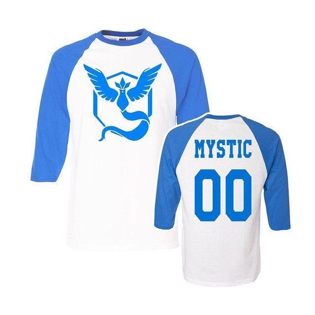 1f1356c5 Pokemon Go Team Valor Team Mystic Team Instinct Pokeball T shirt Red Blue Yellow  women men ash ketchum trainer
