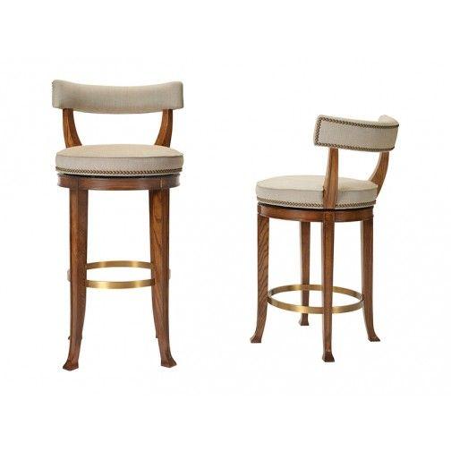 Strange Hickory Chair 1911 Collection Newbury Swivel Curved Back Bar Inzonedesignstudio Interior Chair Design Inzonedesignstudiocom
