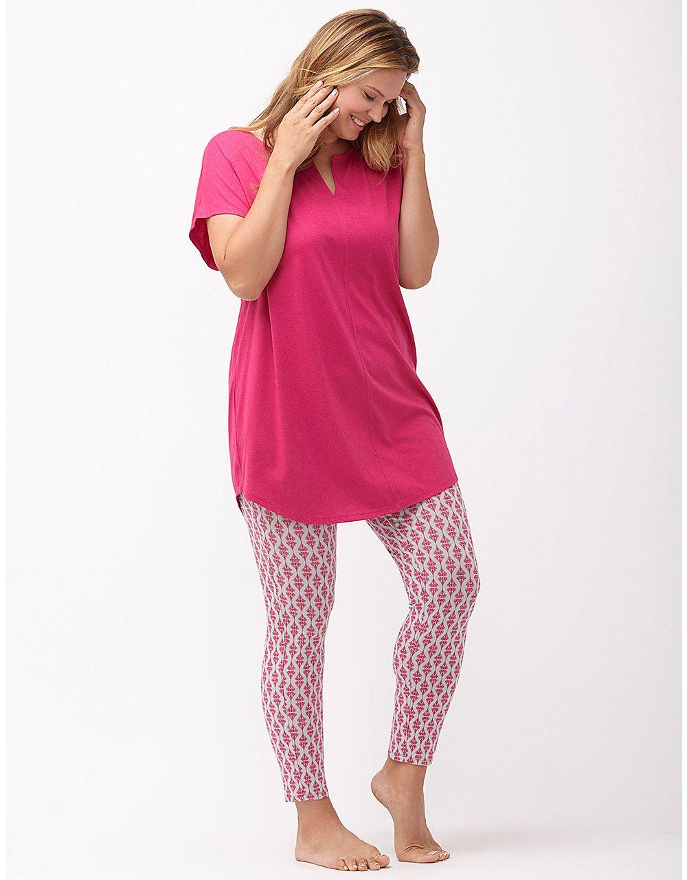 b20dfd00d3a Printed legging PJ set by Cacique