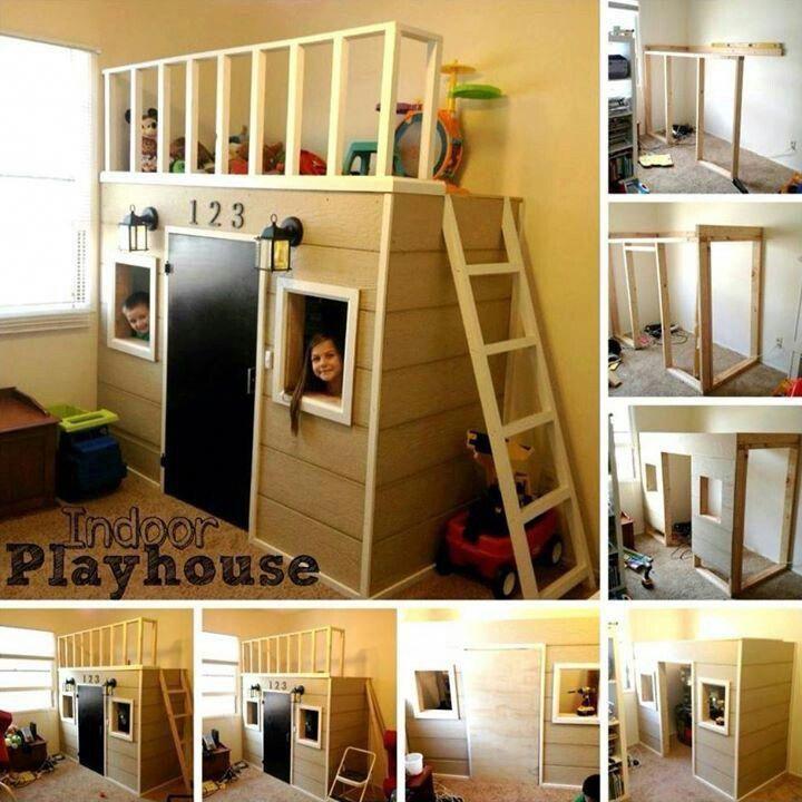 Kids would love this! #indoorplayhouseideas #diyindoorplayhouse