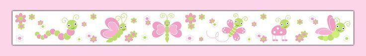 Pink Grey Chevron Elephant Wallpaper Border Wall Decals Baby Boy #pinkchevronwallpaper