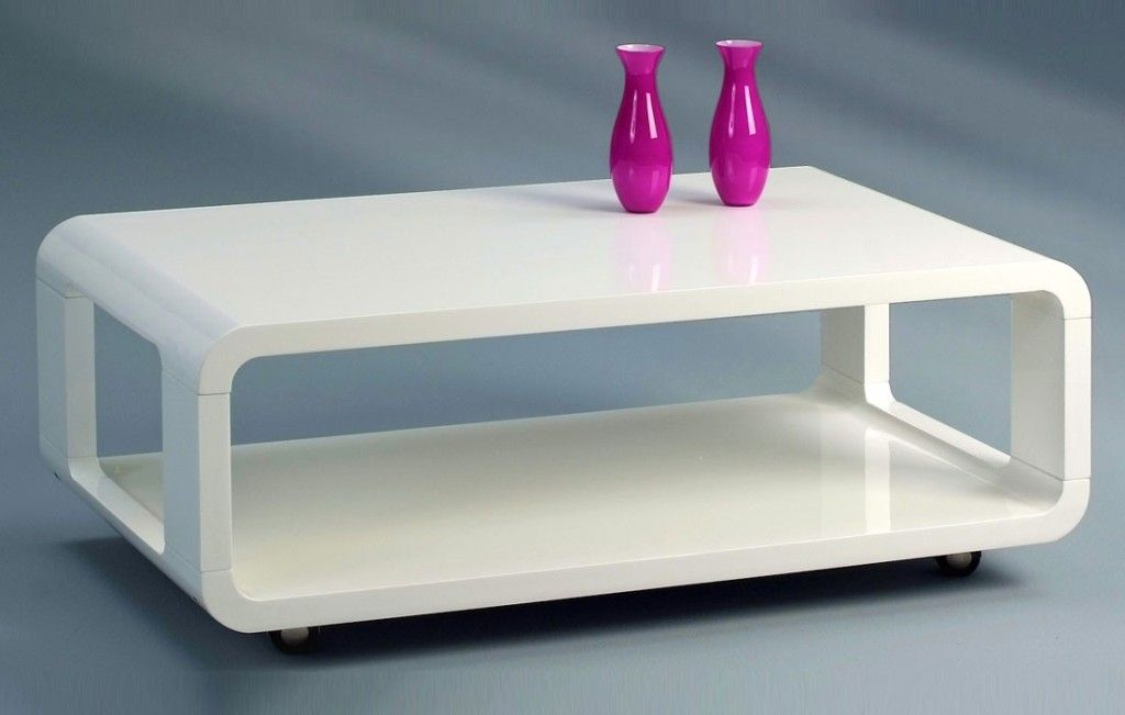 Genial Couchtisch Weiss Hochglanz Rollen Decor Coffee Table Home Decor