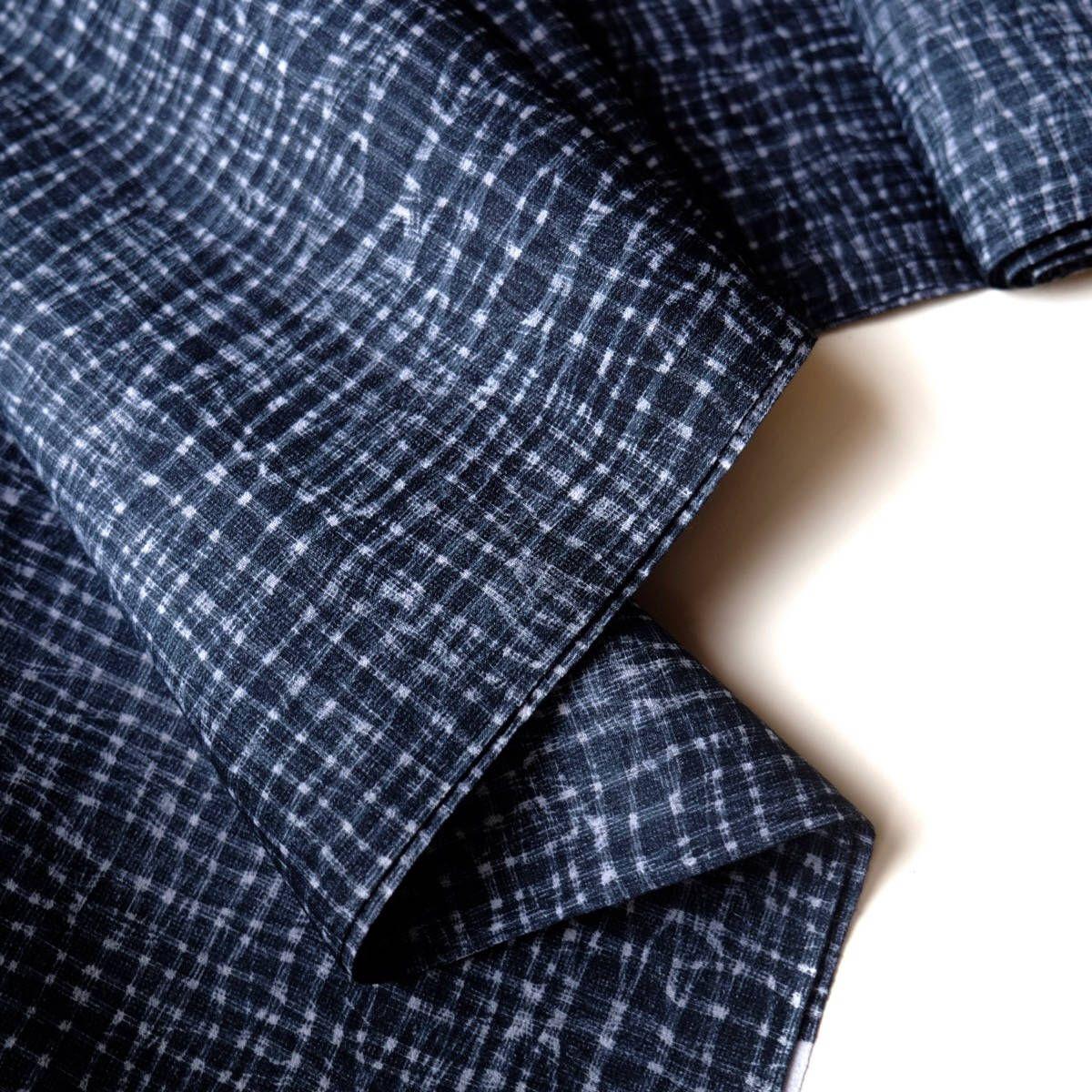Indigo Yukata Cotton Kimono Fabric Unused Bolt By The Yard Etsy Cotton Kimono Kimono Fabric Indigo Fabric