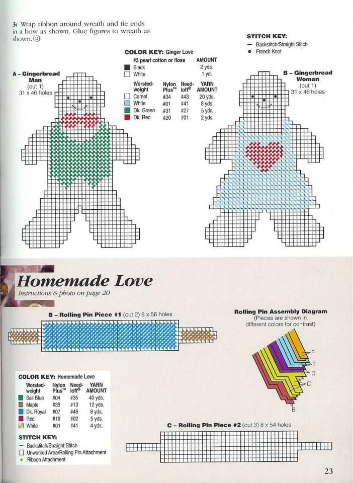 GINGER LOVE by MICHELE WILCOX 2/2 | plastic canvas | Pinterest ...