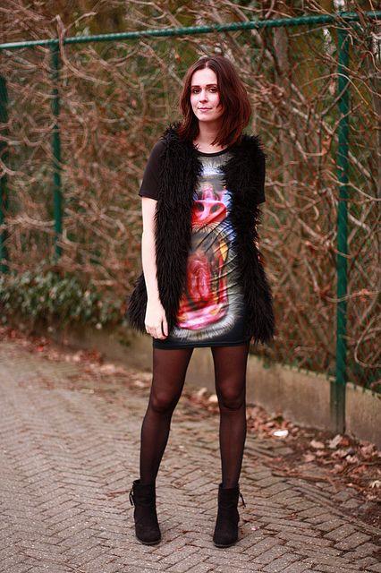 photoreal baboon print dress
