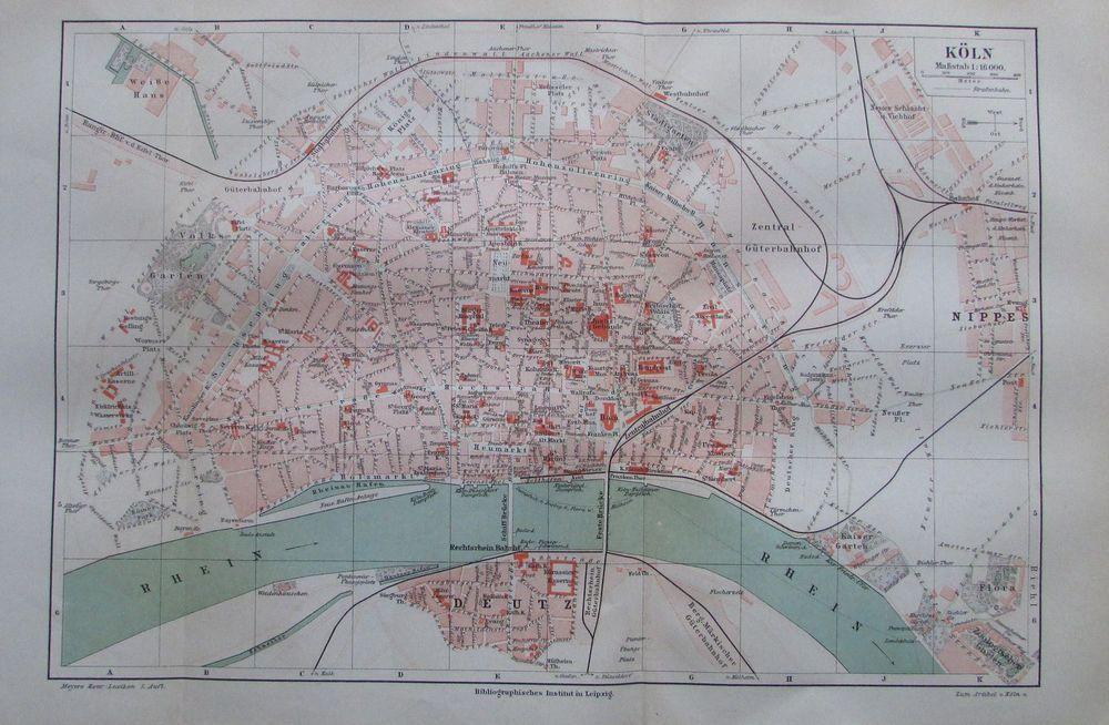 Stadtplan Koln City Ubersicht Fur Print Drucksachen Flyer Mit