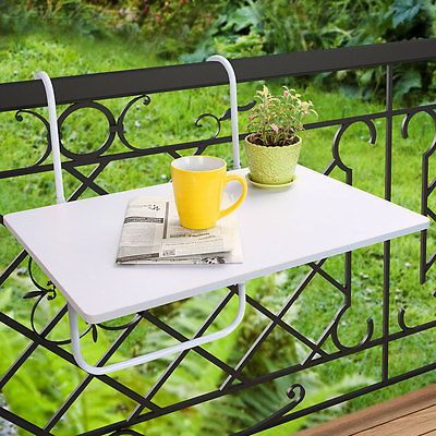 Universal Balcony Hanging Table Folding Adjustable Height Outdoor Dining White Balcones Pequenos Mesa Plegable Muebles Para Balcon