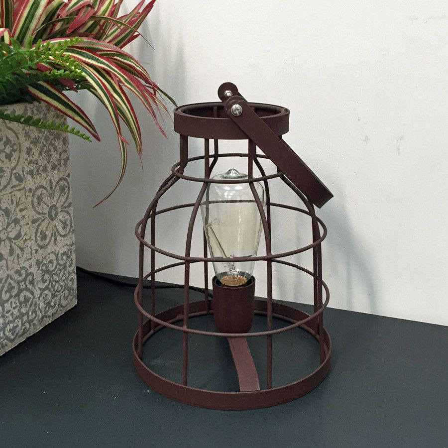 Rustic industrial naked wire cage table lamp rustic industrial rustic industrial naked wire cage table lamp greentooth Images
