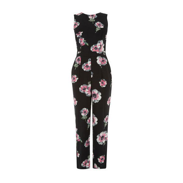 942488494484 Warehouse Warehouse Ocean Floral Jumpsuit Size 8 ( 58) ❤ liked on ...