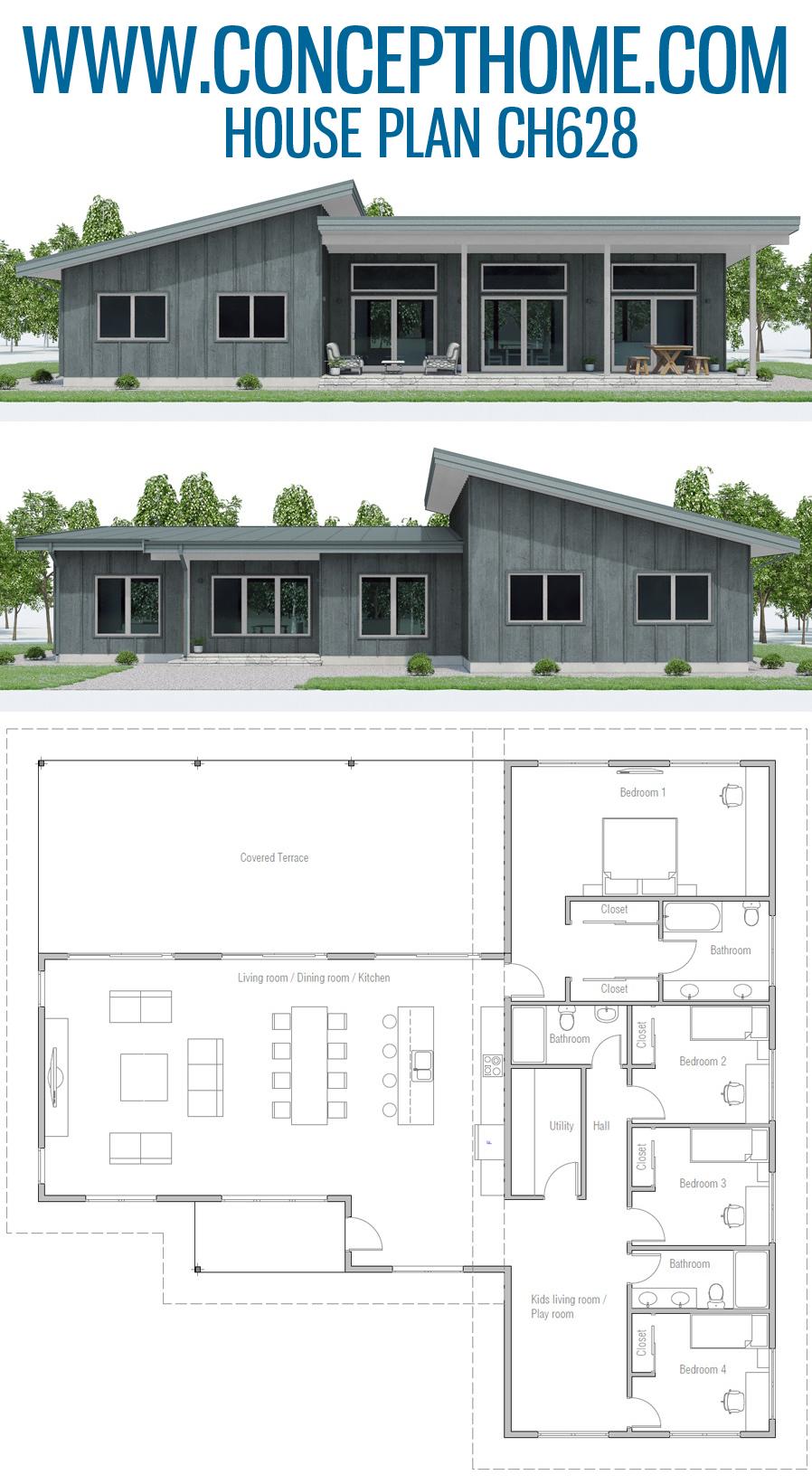 Hausplan Ch628 Home Plans Home Design Floor Plans House Plans Family House Plans
