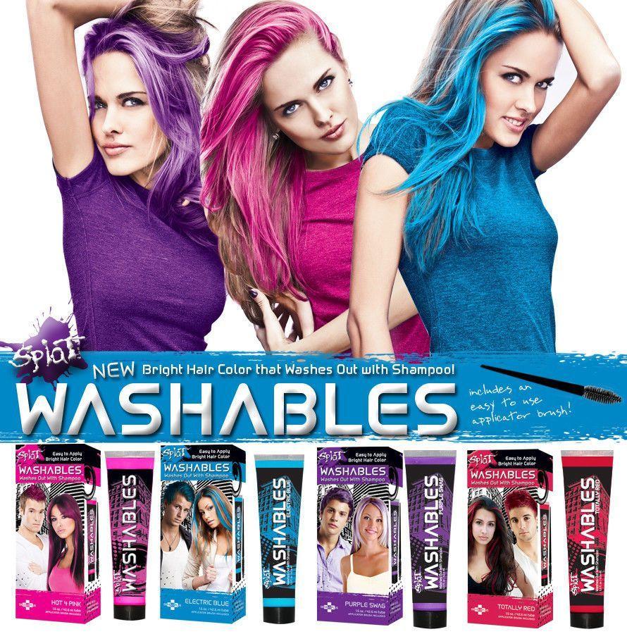 Splat Hair Color Kit Ombre Rain In 2020 Splat Hair Color Dyed Hair Ombre Splat Hair Dye