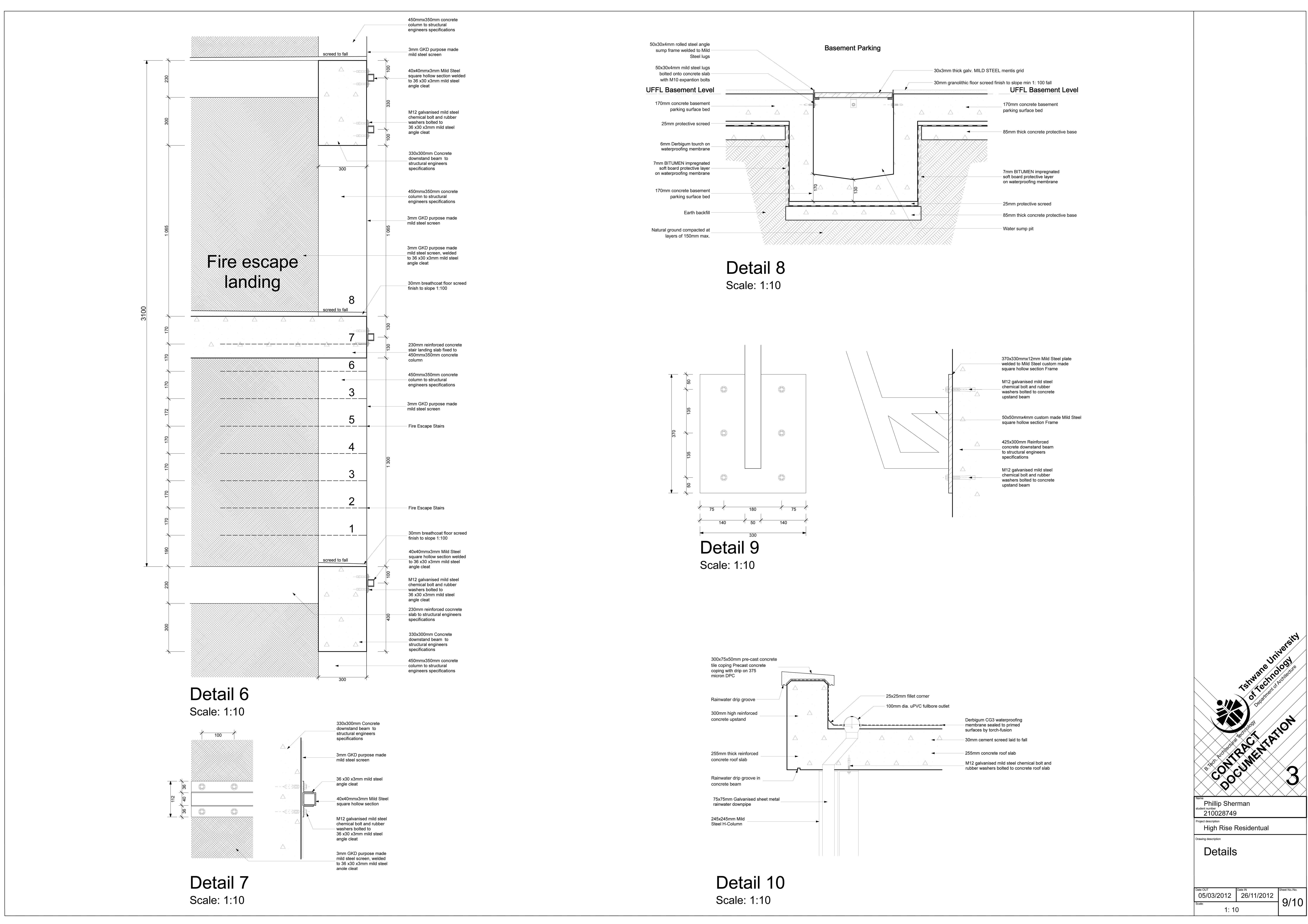 3rd Year High Rise Contract Documentation