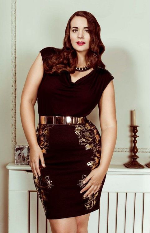 -*/*/ Plus Size LBD with details!
