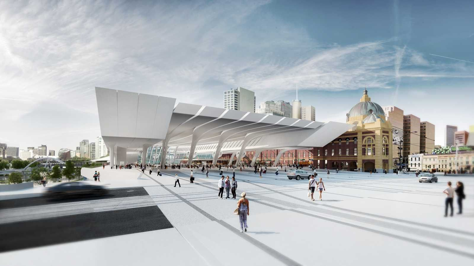 Flinders Street Station Design Competition By Zaha Hadid