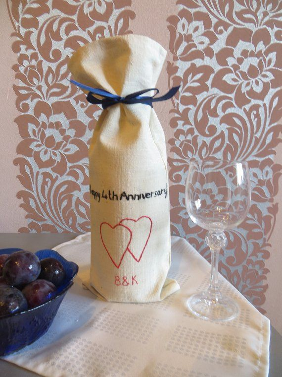 8th 12th Anniversary Romantic Gift For Wife Linen Anniversary Gift