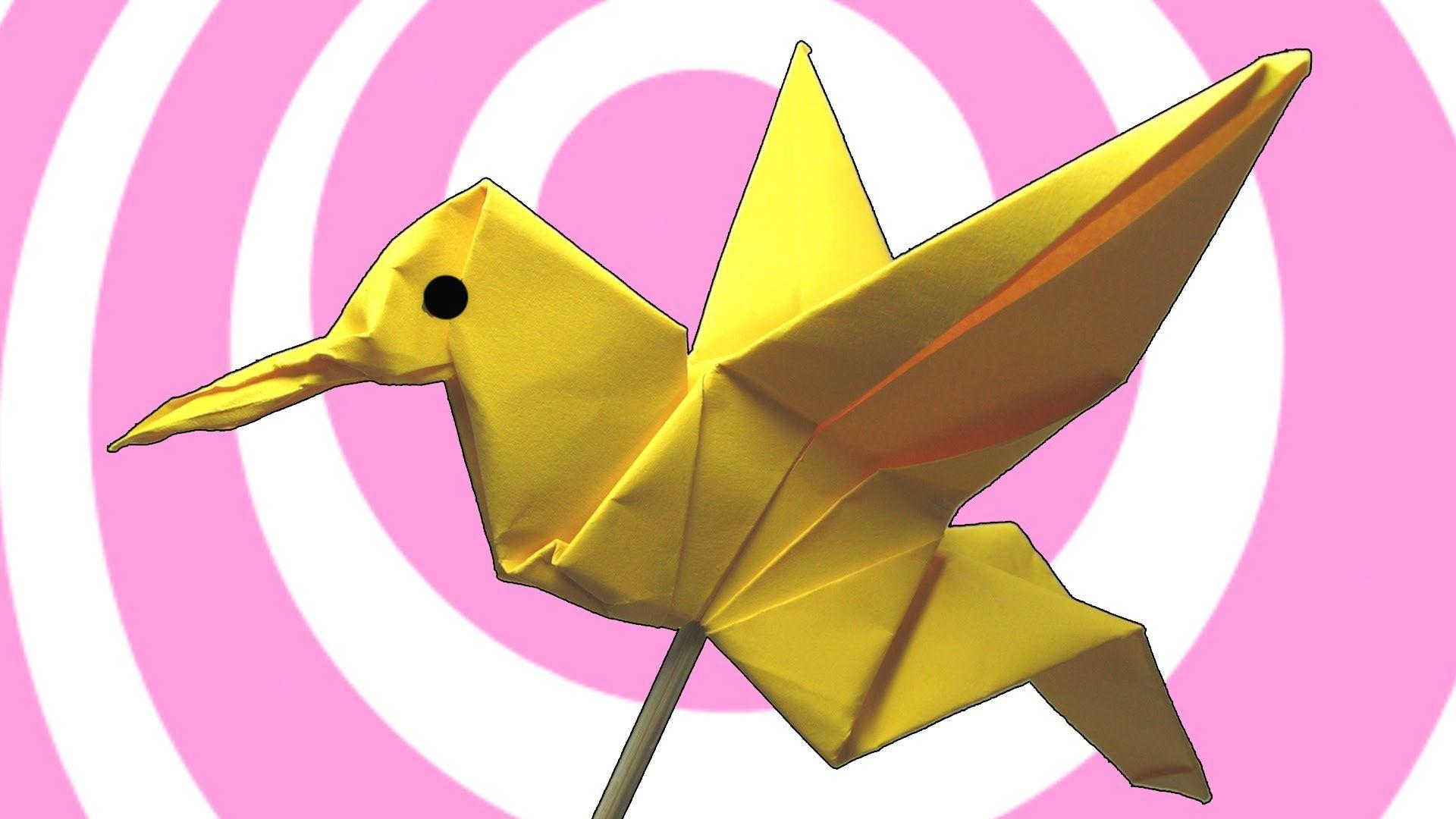 Origami Colibri Hummingbird Instructions Howto Video