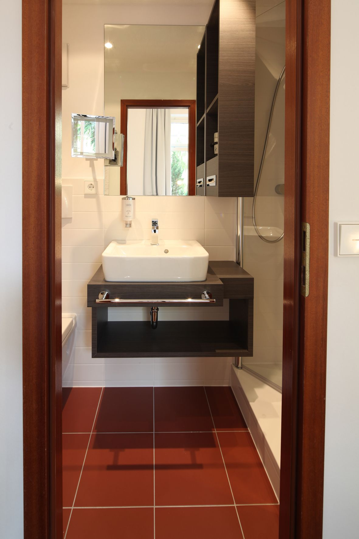 Tiny Hotel Bathroom 20sqft Solution Hotel Bathroom Design Bathroom Design Small Hotel
