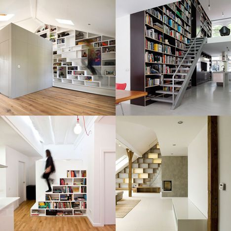 Staircase Shelving staircases with integrated shelving | barn | pinterest | libros