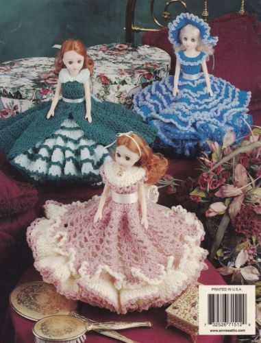 Really Ruffled Doll Dresses Annies Doll Clothes Crochet Pattern