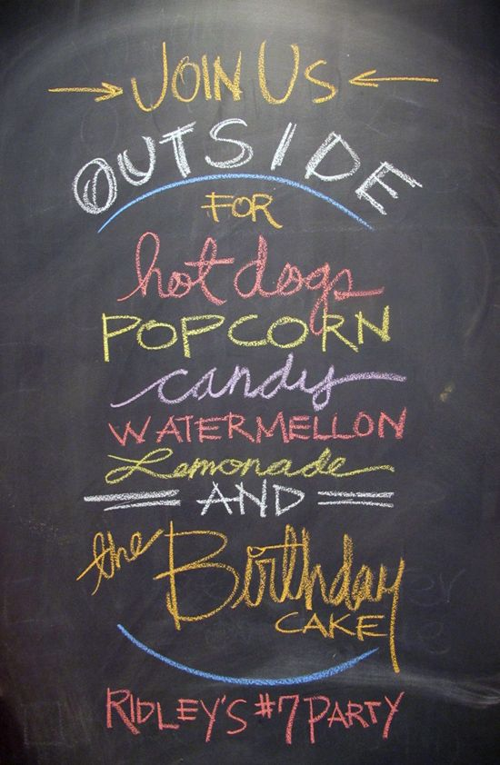 A Chalkboard Brunch Menu And Or Bar The Rustic Look With Fun Modern Use Of Fonts Is Perfect