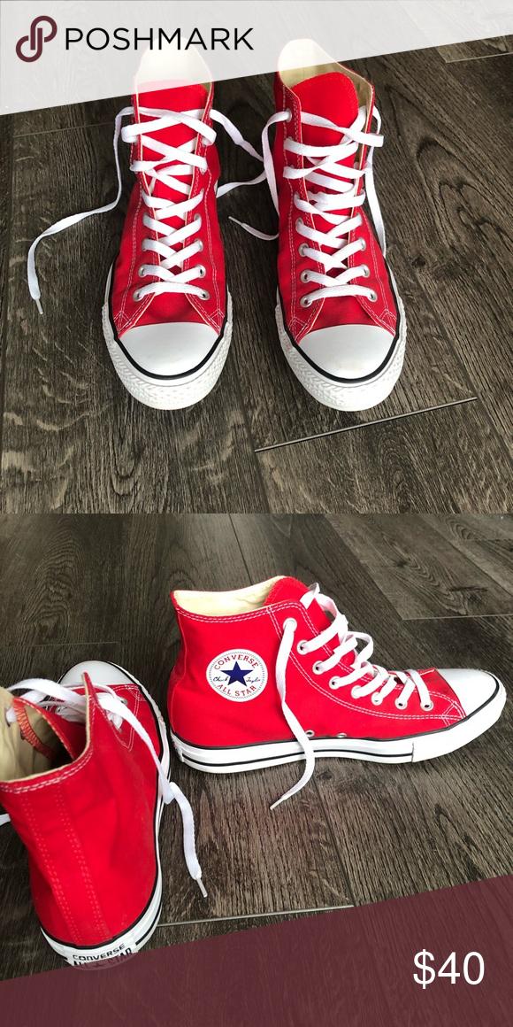 Converse high tops | Converse, Red