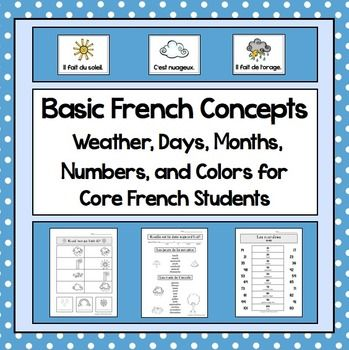 french flash cards numbers colors colours weather months seasons french learning learn. Black Bedroom Furniture Sets. Home Design Ideas