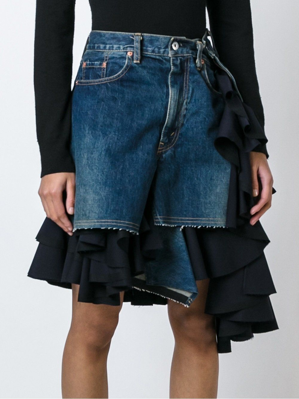 dd985a547b Junya Watanabe layered ruffled denim skirtt | Sewing/ Costura in ...