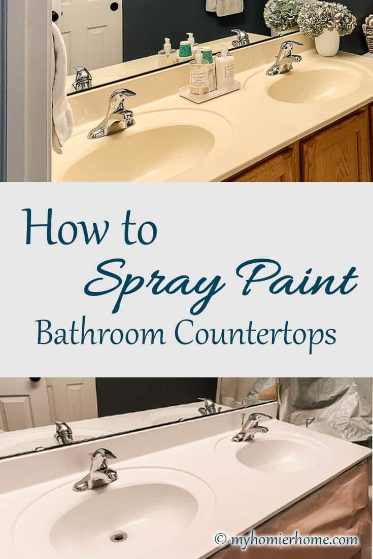 Photo of How to Easily Spray Paint Bathroom Countertops | My Homier Home