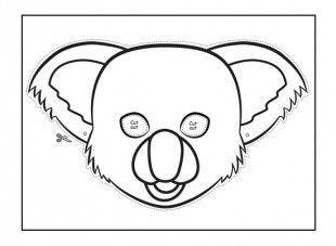 this koala animal mask template will keep your kids entertained