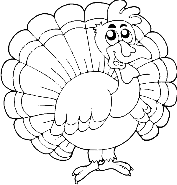 Turkey Happy Thanksgiving Coloring For Kids thanksgiving Coloring