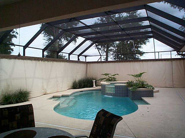 Privacy On Demand Inc Custom Outdoor Privacy Curtains For Your Pool Area Or Lanai Outdoor Privacy Privacy Curtains Pool Patio