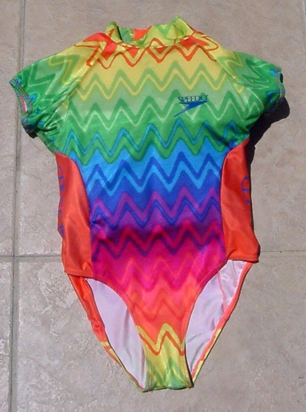 02fdf02eefa GIRLS SPEEDO Floatation MULTICOLOR Floaties Swimming Costume SZ Large # Speedo