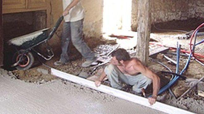 r aliser une dalle en b ton de chaux sustainable. Black Bedroom Furniture Sets. Home Design Ideas